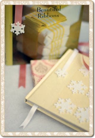 Easy Christmas DIY How to Make Ribbon Bookmarks