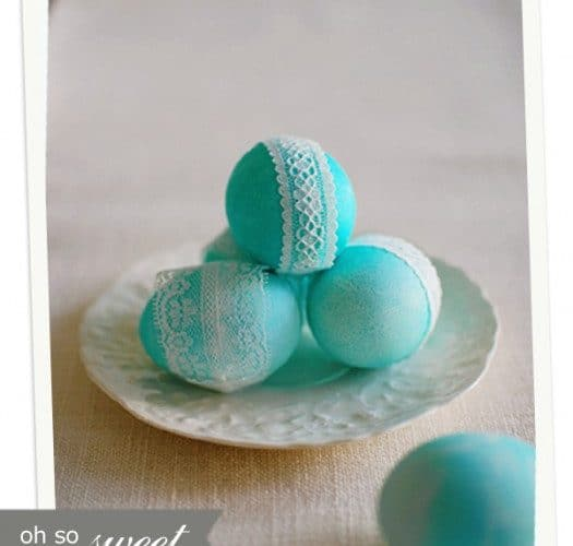 Lace Easter Egg {tutorial}