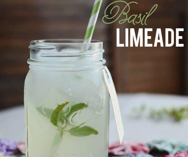 {Summer Sips} Basil Limeade Recipe
