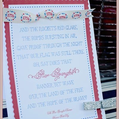 {be encouraged} a 4th of July inspired quote