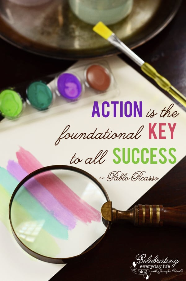 Action is the foundational key to all success quote, Pablo Picasso quote