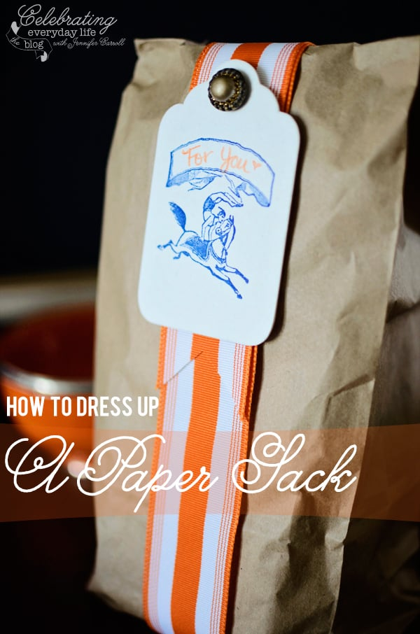 How to Dress Up a Paper Sack
