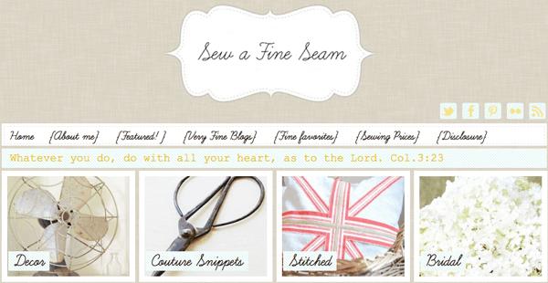 {Blogs I Love} Sew A Fine Seam