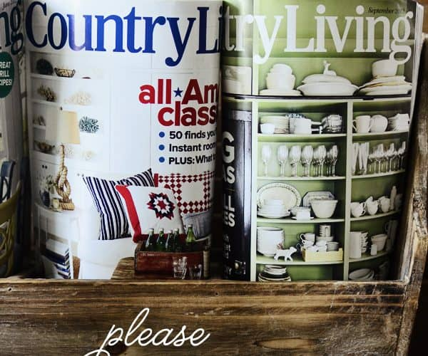 Country Living magazine & Me!!! {Please VOTE for me!}