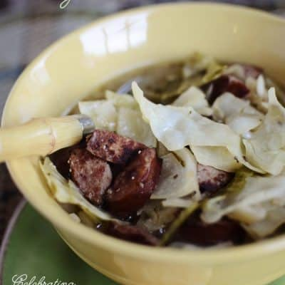 {Fall Soup Recipe} Cabbage & Kielbasa