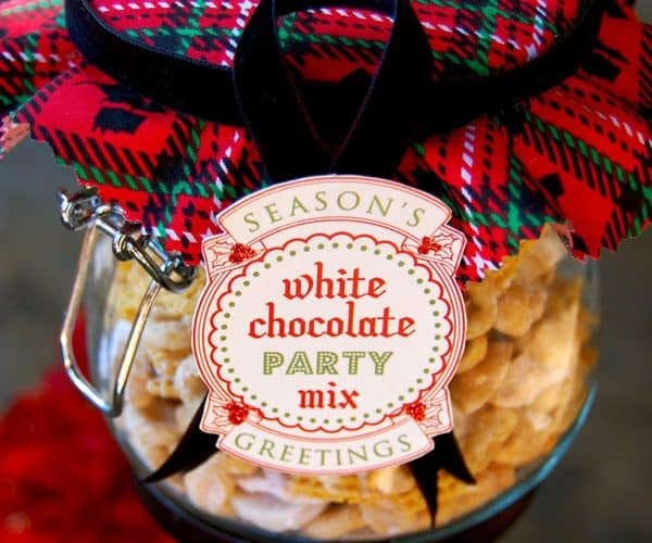 White Chocolate Party Mix recipe with Free Download Tag! {Christmas Gift from the Kitchen}