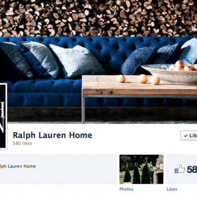 I was Featured by Ralph Lauren Home!