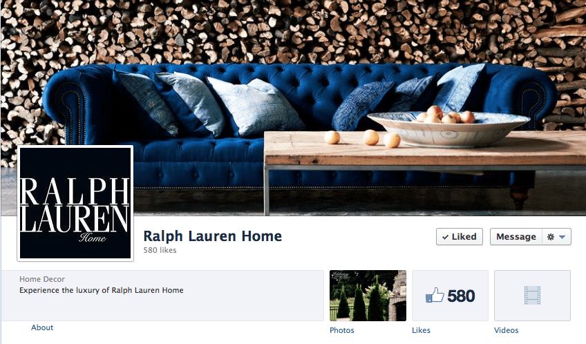 Ralph Lauren Home on Facebook