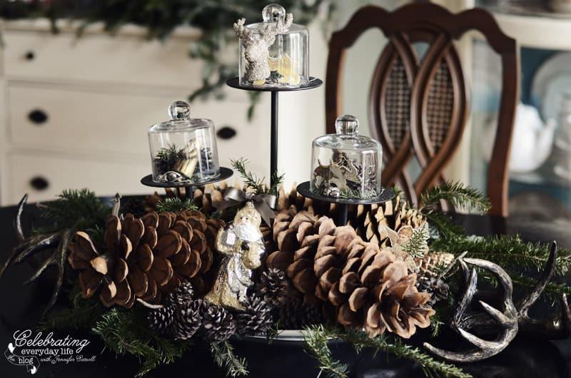 Pinecone Centerpiece, Woodland Centerpiece, Christmas Centerpiece, Holiday Centerpiece