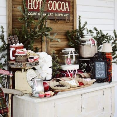 How to Host a Front Porch Hot Cocoa Bar