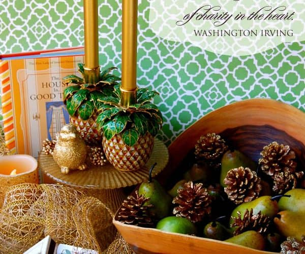 Pineapple Hostess Gift Ideas & A Christmas Hospitality Quote