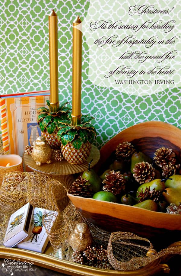 Washington Irving Quote, Christmas Quote, Pineapple Hostess Gift Ideas