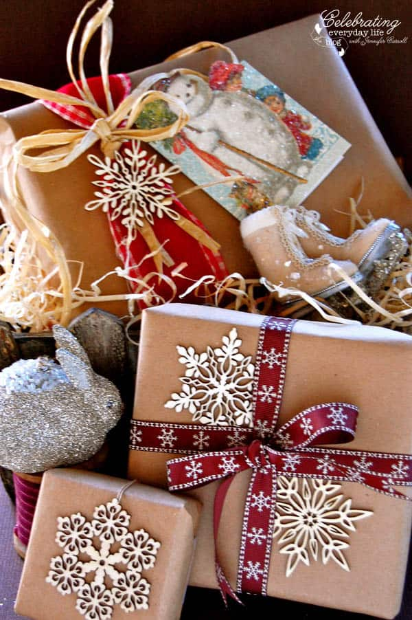 Vintage Inspired Diy Glitter Christmas Card Project Easy