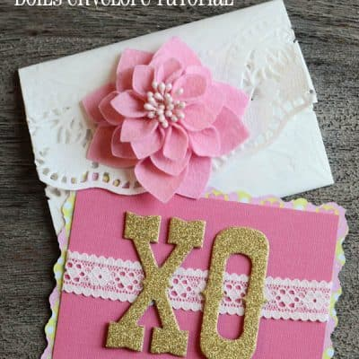 {Valentine DIY} Easy-Peasy Doily Envelope Tutorial