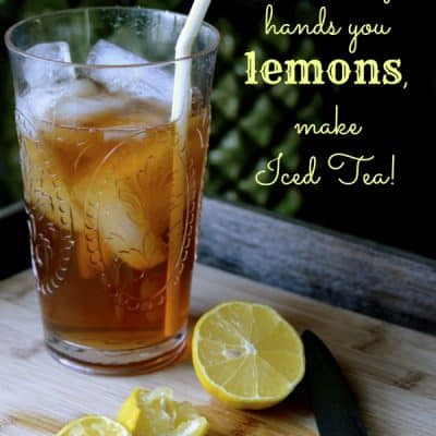 {Be Encouraged} When Life Hands You Lemons!