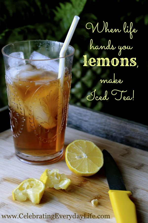 encouraging quote, when life hands you lemons