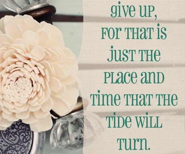 {Inspiring Quote} Never Give Up! quote by Harriet Beecher Stowe