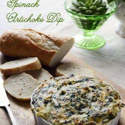 Green Chile Spinach Artichoke Dip :: Comfort Food Recipe