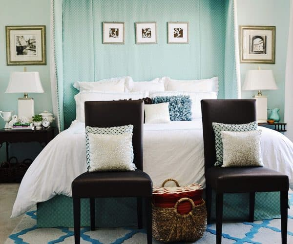 {Home Tour} My Turquoise and White Bedroom