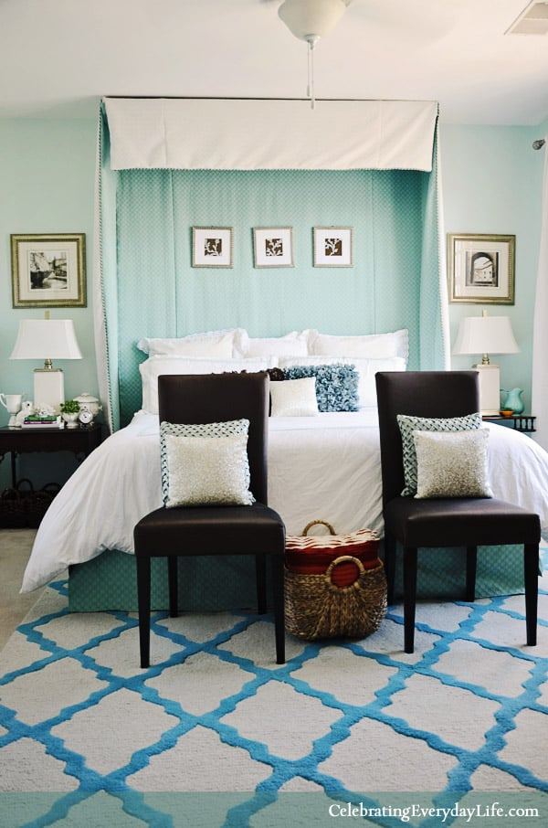 Home Tour My Turquoise And White Bedroom Celebrating