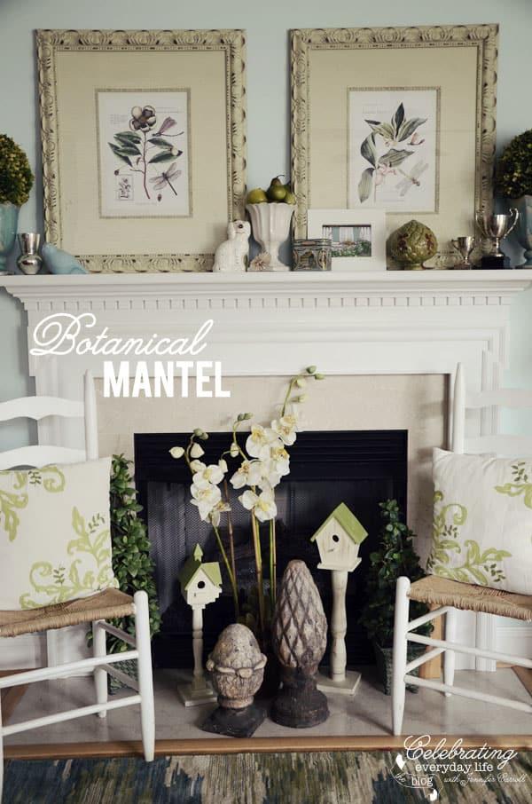 Botanical Mantel, Celebrating Everyday Life