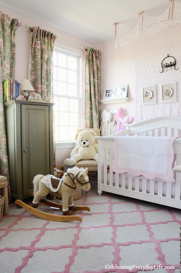 Daughter's Bedroom, Pink Girls room, Celebrating Everyday Life blog