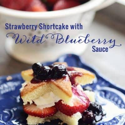 Strawberry Shortcake with Wild Blueberry Sauce Recipe