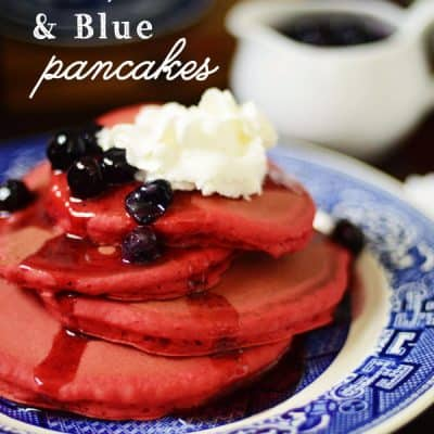 Red, White & Blue Pancakes {Holiday Recipe}