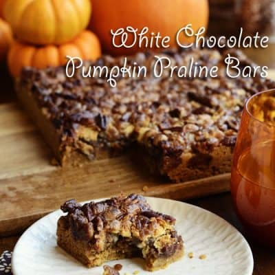 White Chocolate Pumpkin Praline Bars ~ Autumn Treat!