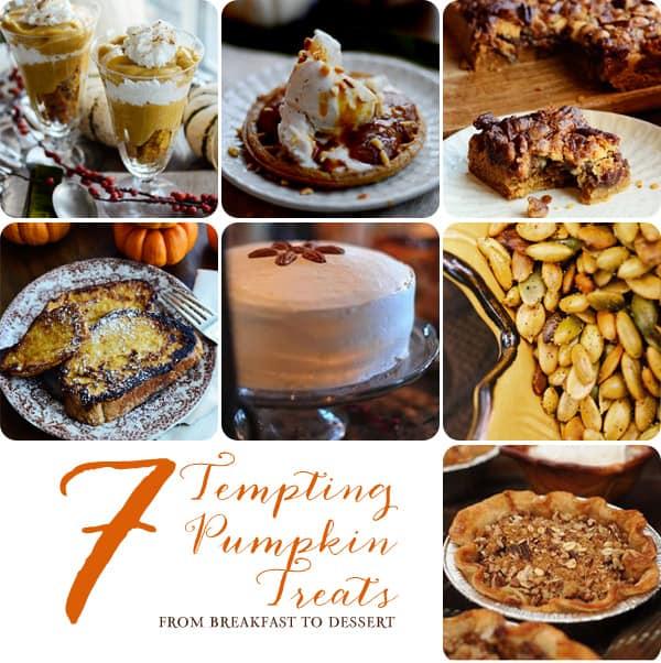 Pumpkin Recipe Roundup, 7 pumpkin recipes for the holidays, Celebrating Everyday Life with Jennifer Carroll