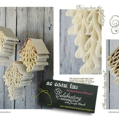 Beautiful Book Art – Tutorials for Decorating with Books