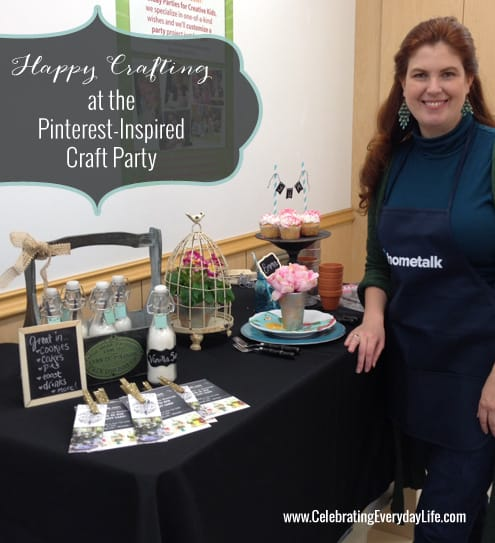 Happy Crafting at the Pinterest Inspired Michaels Craft Store Party, Celebrating Everyday Life with Jennifer Carroll, #MPinterestParty