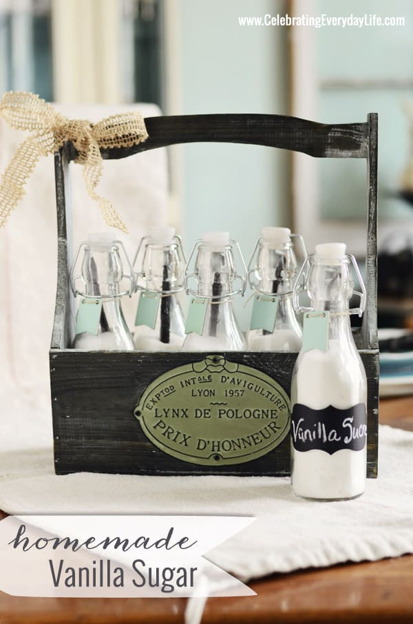 Homemade Vanilla Sugar, Pinterest Inspired Craft with Michaels and Hometalk, Celebrating Everdyay Life with Jennifer Carroll