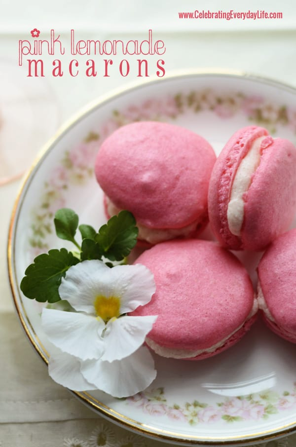 Pink Lemonade Macarons, Sucre Macaron Challenge, How to Make French Macarons, Celebrating Everyday Life with Jennifer Carroll