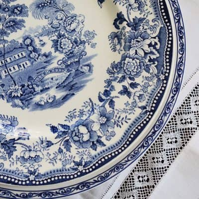 Blue & White China and keeping a good attitude when your plans unexpectedly change!