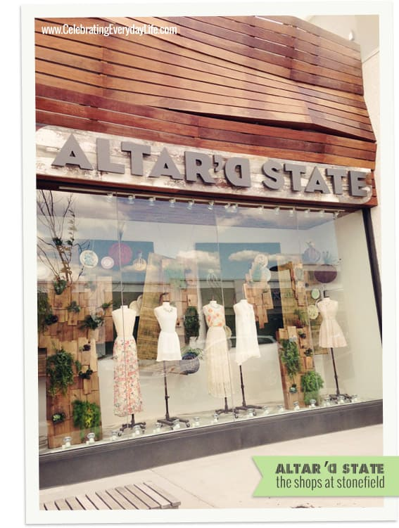 Altar'd State at the shops at Stonefield, Charlottesville Virginia, Celebrating Everyday Life with Jennifer Carroll