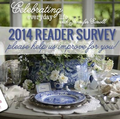 Celebrating Everyday Life magazine 2014 Reader Survey!