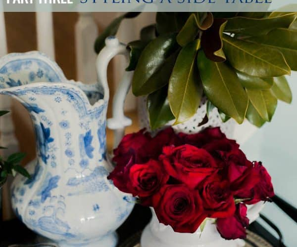 A Beginner's Guide to Decorating with Blue & White, Part Three + this week's menus
