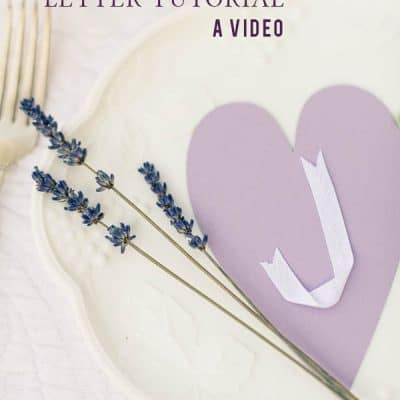 How to Make Ribbon Letters – A Video Tutorial!