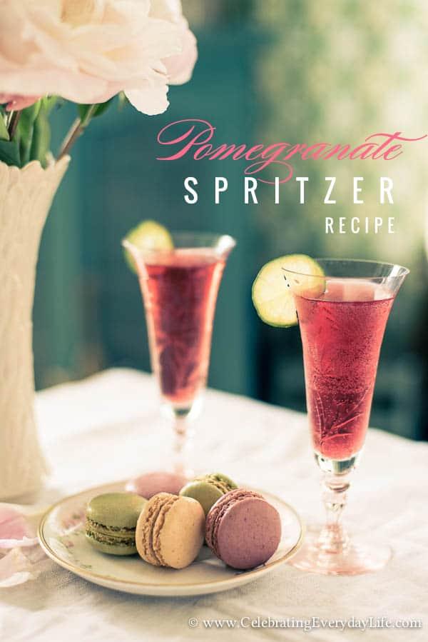 Pomegranate Spritzer Recipe – Summer Cocktail