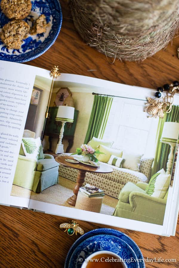 The Bee Cottage Story Book Review, House Beautiful Bee Cottage, Inspiring Cottage Home, Bee Cottage Living Room, Celebrating Everyday Life with Jennifer Carroll