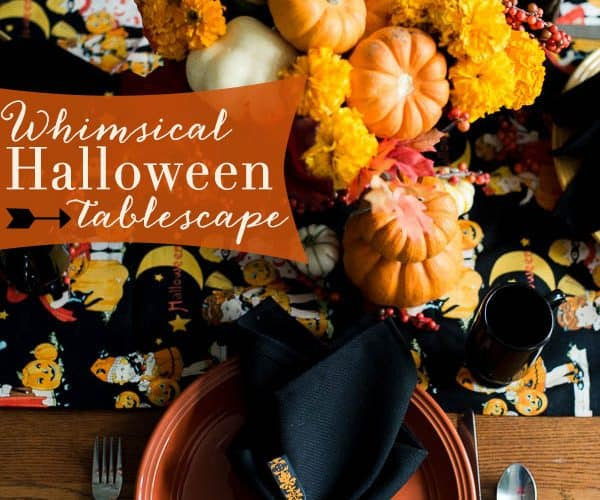 A Whimsical Halloween Tablescape