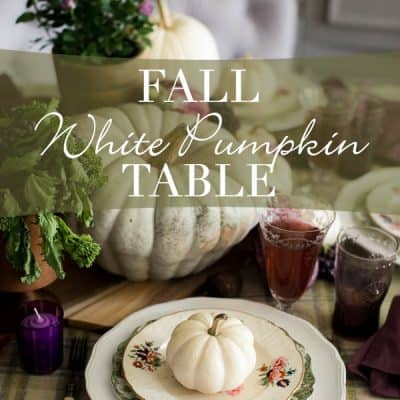 Fall White Pumpkin Table
