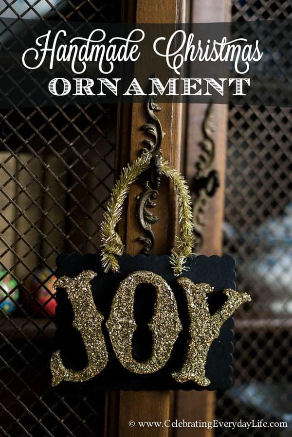 Handmade Christmas Ornament :: JOY