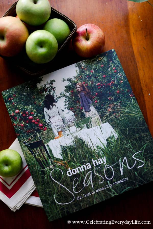 Donna Hay Seasons cookbook review, beautiful cookbooks, pretty cookbooks, cookbook gift ideas, Celebrating Everyday Life with Jennifer Carroll
