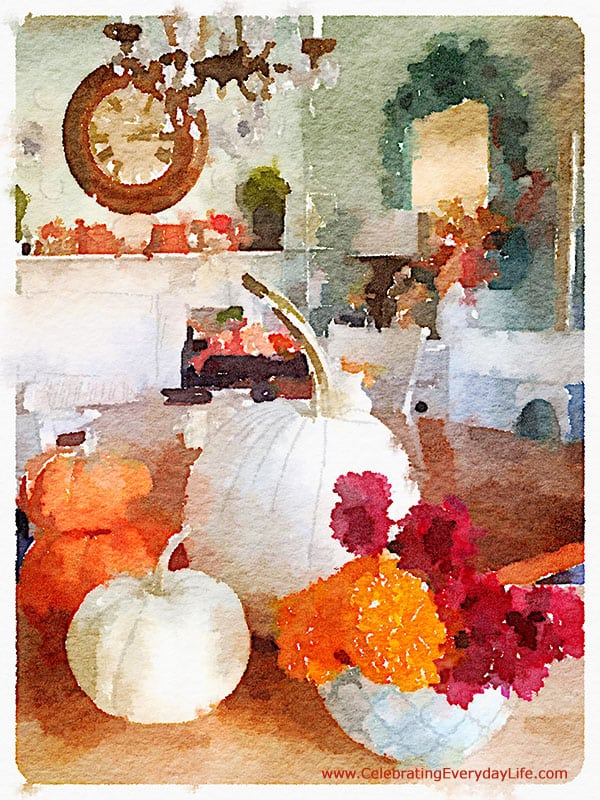 Make your own Watercolor Pumpkins, Watercolor App, Working with Waterlogue, Watercolor Pumpkin, Celebrating Everyday Life with Jennifer Carroll