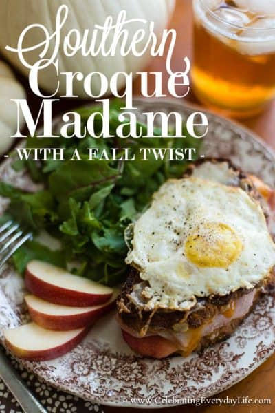 Southern Croque Madame with a Fall Twist