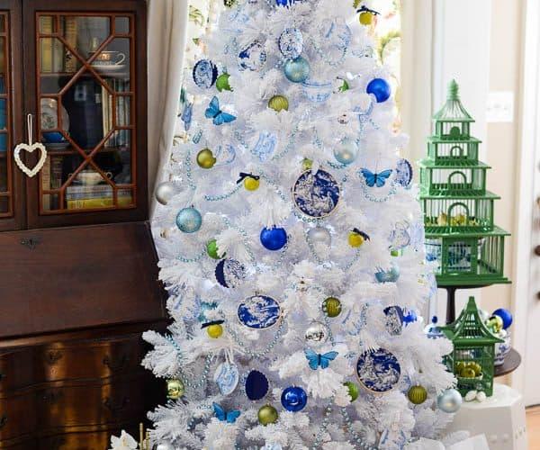 Blue & White Christmas Tree