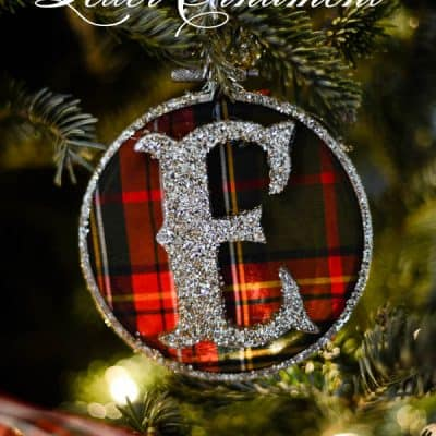 Plaid Letter Ornament DIY