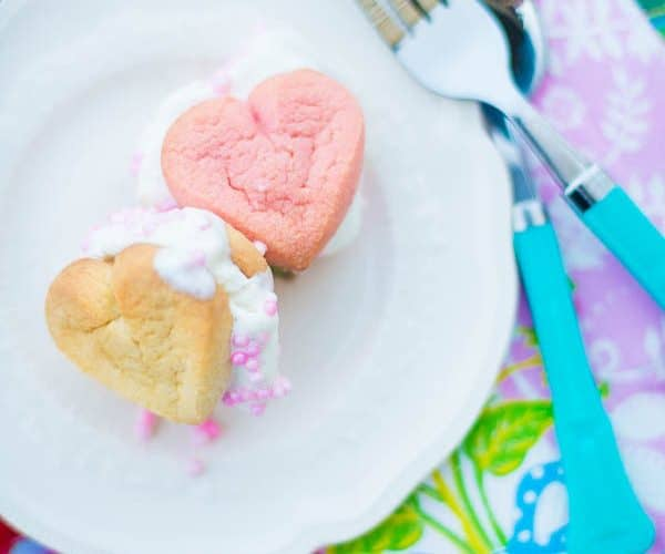 Heart Ice Cream Sandwiches